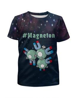 """Футболка с полной запечаткой для девочек """"PoKeMon Magneton"""" - pokemon, покемон, магнит, магнетон, magneton"""