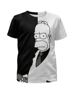 """Футболка с полной запечаткой для девочек """"Симпсоны / The Simpsons"""" - комикс, мультфильм, рисунок, кино, сериал"""