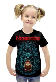 """Футболка с полной запечаткой для девочек """"Necronomicon"""" - смерть, evil dead, некрономикон, necronomicon, книга мёртвых"""