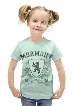 """Футболка с полной запечаткой для девочек """"Игра Престолов. Дом Мормонтов"""" - игра престолов, game of thrones, мормонт, house mormont, дом мормонтов"""