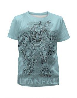 """Футболка с полной запечаткой для девочек """"TITANFALL"""" - games, gamer, pc, barreljumpers, titanfall"""