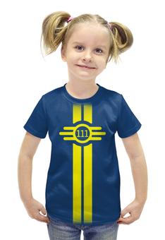 """Футболка с полной запечаткой для девочек """"Fallout"""" - игры, fallout, vault boy, убежище 111, vault 111"""