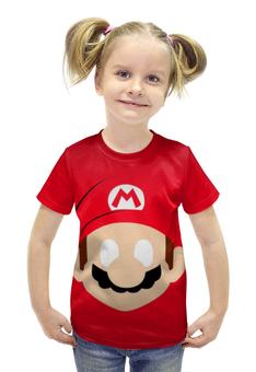 """Футболка с полной запечаткой для девочек """"Супер Марио"""" - игры, фанарт, супер марио"""