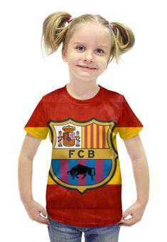 """Футболка с полной запечаткой для девочек """"Барселона"""" - barcelona, барселона"""