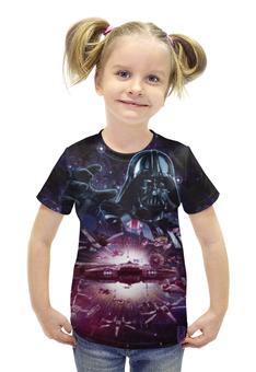 """Футболка с полной запечаткой для девочек """"Star Wars/Звездные войны"""" - звездные войны, starwars, дарт вейдер, сокол тысячелетия"""