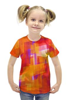 """Футболка с полной запечаткой для девочек """"Абстракция"""" - узоры, рисунок, абстракция, абстракционизм, арт дизайн"""