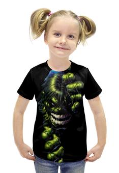 """Футболка с полной запечаткой для девочек """"Халк (Мстители)"""" - hulk, мстители, марвел, халк"""