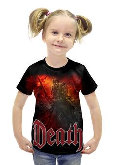 """Футболка с полной запечаткой для девочек """"Death Art"""" - skull, череп, death, смерть, меч"""