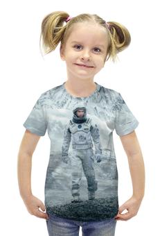 """Футболка с полной запечаткой для девочек """"Interstellar"""" - планета, космос, интерстеллар, interstellar, макконахи"""