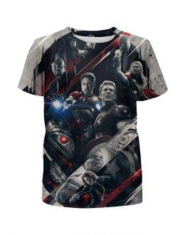"""Футболка с полной запечаткой для девочек """"Мстители - Эра Альтрона"""" - avengers, железный человек, капитан америка, тор, халк"""