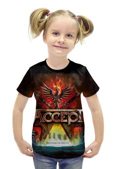 """Футболка с полной запечаткой для девочек """"Accept Band"""" - heavy metal, рок музыка, accept, арт дизайн, хеви метал"""