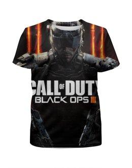 """Футболка с полной запечаткой для девочек """"кал оф дьюти , Call of Duty , игры"""" - игры, black ops, call of duty, кал оф дьюти"""