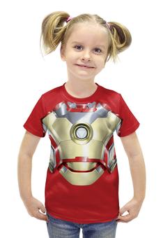 """Футболка с полной запечаткой для девочек """"Ironman / Железный человек"""" - арт, marvel, avengers, ironman"""
