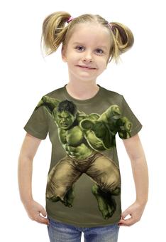 """Футболка с полной запечаткой для девочек """"Халк (Hulk)"""" - hulk, халк"""