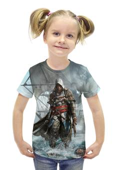 """Футболка с полной запечаткой для девочек """"Assassin's Creed"""" - игра, рисунок, ассасин"""