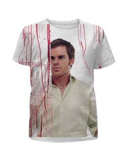 """Футболка с полной запечаткой для девочек """"Dexter"""" - dexter, декстер, сериалы, кровь, майкл"""