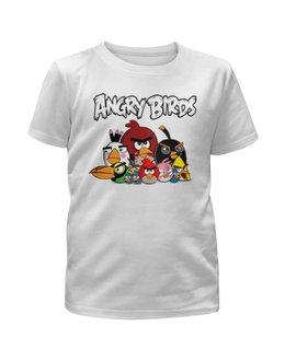 """Футболка с полной запечаткой для девочек """"Angry Birds"""" - птицы, птички, мульт, angry birds, энгри бёрдз"""