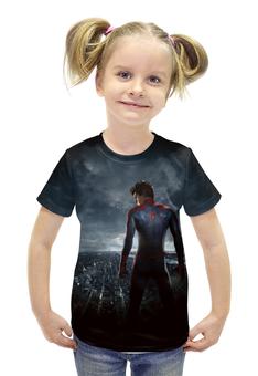 """Футболка с полной запечаткой для девочек """"Spider-Man"""" - комиксы, герой, человек паук, марвел"""