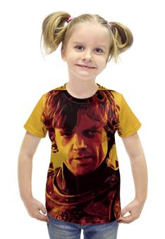 """Футболка с полной запечаткой для девочек """"Тирион Ланнистер , Tyrion Lannister"""" - тирион ланнистер, tyrion lannister"""