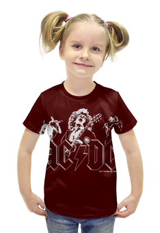 """Футболка с полной запечаткой для девочек """"AC/DC Band"""" - heavy metal, hard rock, ac dc, эйси диси, хеви метал"""