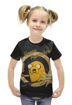 """Футболка с полной запечаткой для девочек """"Adventure time"""" - adventure time, время приключений, джейк, финн"""
