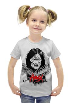 """Футболка с полной запечаткой для девочек """"Hirax Band"""" - череп, рок музыка, thrash metal, metal music, hirax"""