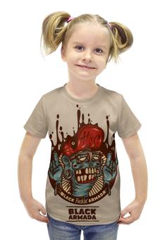"""Футболка с полной запечаткой для девочек """"Swag Art"""" - skull, череп, zombie, зомби, swag"""