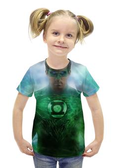 """Футболка с полной запечаткой для девочек """"Зеленый Фонарь"""" - green lantern"""