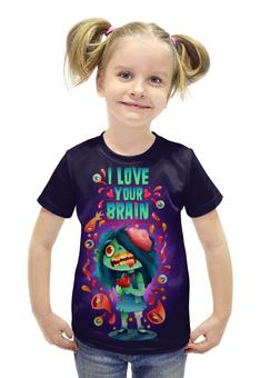 """Футболка с полной запечаткой для девочек """"Милашка Зомби"""" - любовь, арт, zombie, зомби, девочка"""