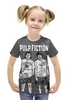 """Футболка с полной запечаткой для девочек """"Pulp Fiction"""" - кино, tarantino, тарантино, криминальное чтиво, pulp fiction"""