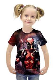 """Футболка с полной запечаткой для девочек """"Дэдпул (Deadpool)"""" - deadpool, дэдпул, wade wilson"""
