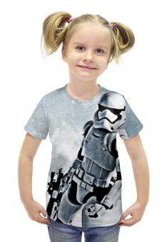 """Футболка с полной запечаткой для девочек """"Штурмовик (Звездные Войны)"""" - star wars, stormtrooper"""