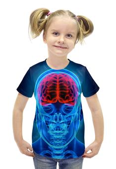 """Футболка с полной запечаткой для девочек """"X-RAY SKULL"""" - арт, дизайн, графика, фотография"""