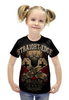 "Футболка с полной запечаткой для девочек ""Straight Edge"" - hardcore, sxe, straight edge"