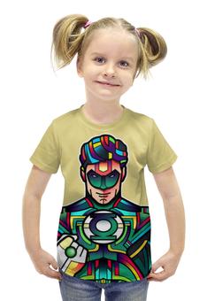 """Футболка с полной запечаткой для девочек """"Green Lantern"""" - комиксы, фантастика, супергерой, зеленый фонарь, кольцо силы"""
