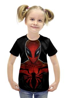 """Футболка с полной запечаткой для девочек """"Человек Паук"""" - spider man"""