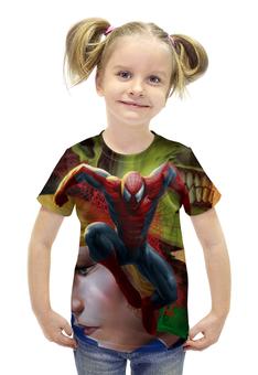 """Футболка с полной запечаткой для девочек """"Человек-паук / Spider-Man"""" - рисунок, комиксы, кино, паук"""
