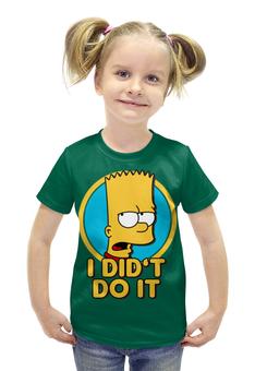 """Футболка с полной запечаткой для девочек """"Барт Симпсон. Я этого не делал"""" - simpsons, прикольные, bart, барт симпсон, симпспоны"""
