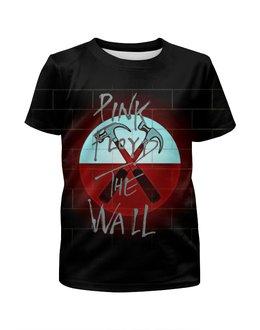 """Футболка с полной запечаткой для девочек """"Pink Floyd The Wall"""" - стена, рок музыка, пинк флойд, pink floyd, the wall"""