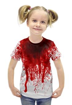 """Футболка с полной запечаткой для девочек """"Счастливого хеллоуина"""" - хэллоуин, зомби, ужас, monster, монстр"""