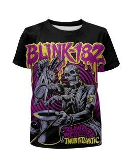 """Футболка с полной запечаткой для девочек """"Blink-182 Band"""" - punk rock, рок группа, панк рок, blink-182, blink182"""