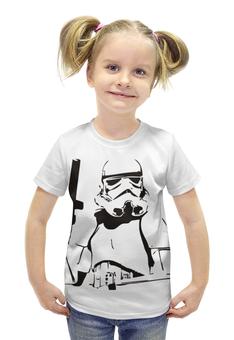 """Футболка с полной запечаткой для девочек """"Star Wars"""" - star wars, звездные войны, штурмовик"""
