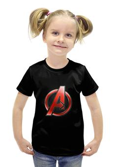 """Футболка с полной запечаткой для девочек """"Мстители (The Avengers)"""" - мстители, железный человек, тор, эра альтрона, воитель"""