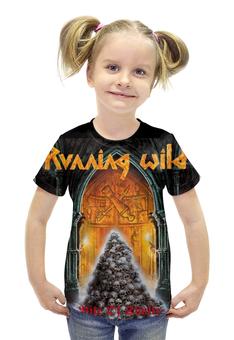 """Футболка с полной запечаткой для девочек """"Running Wild Band"""" - heavy metal, хеви метал, running wild, power metal, павер метал"""