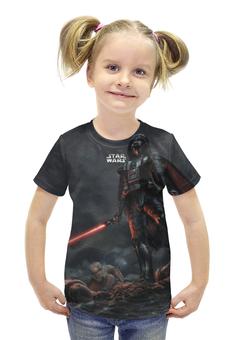 """Футболка с полной запечаткой для девочек """"star wars"""" - star wars, dark side, darth vader, звездные войны"""