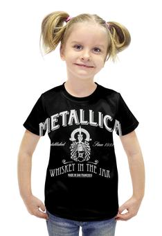 """Футболка с полной запечаткой для девочек """"Metallica"""" - heavy metal, metallica, металлика, thrash metal, alcoholica"""