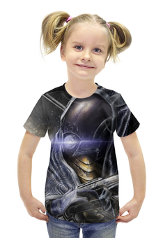 """Футболка с полной запечаткой для девочек """"Масс Эффект (Mass Effect)"""" - mass effect, масс эффект"""
