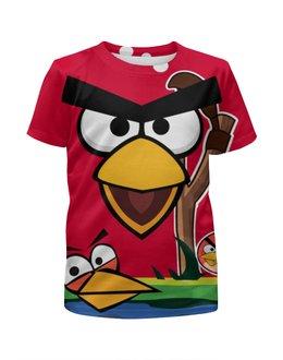 """Футболка с полной запечаткой для девочек """"Angry Birds 2"""" - игры, игра, angry birds, мобильные игры, angry birds 2"""