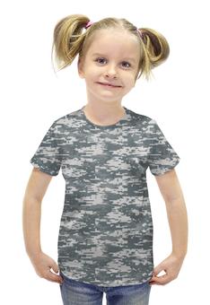 """Футболка с полной запечаткой для девочек """"Digital Urban Style"""" - style, армия, камуфляж, camo"""