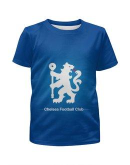 """Футболка с полной запечаткой для девочек """"Chelsea (Челси)"""" - челси, chelsea"""